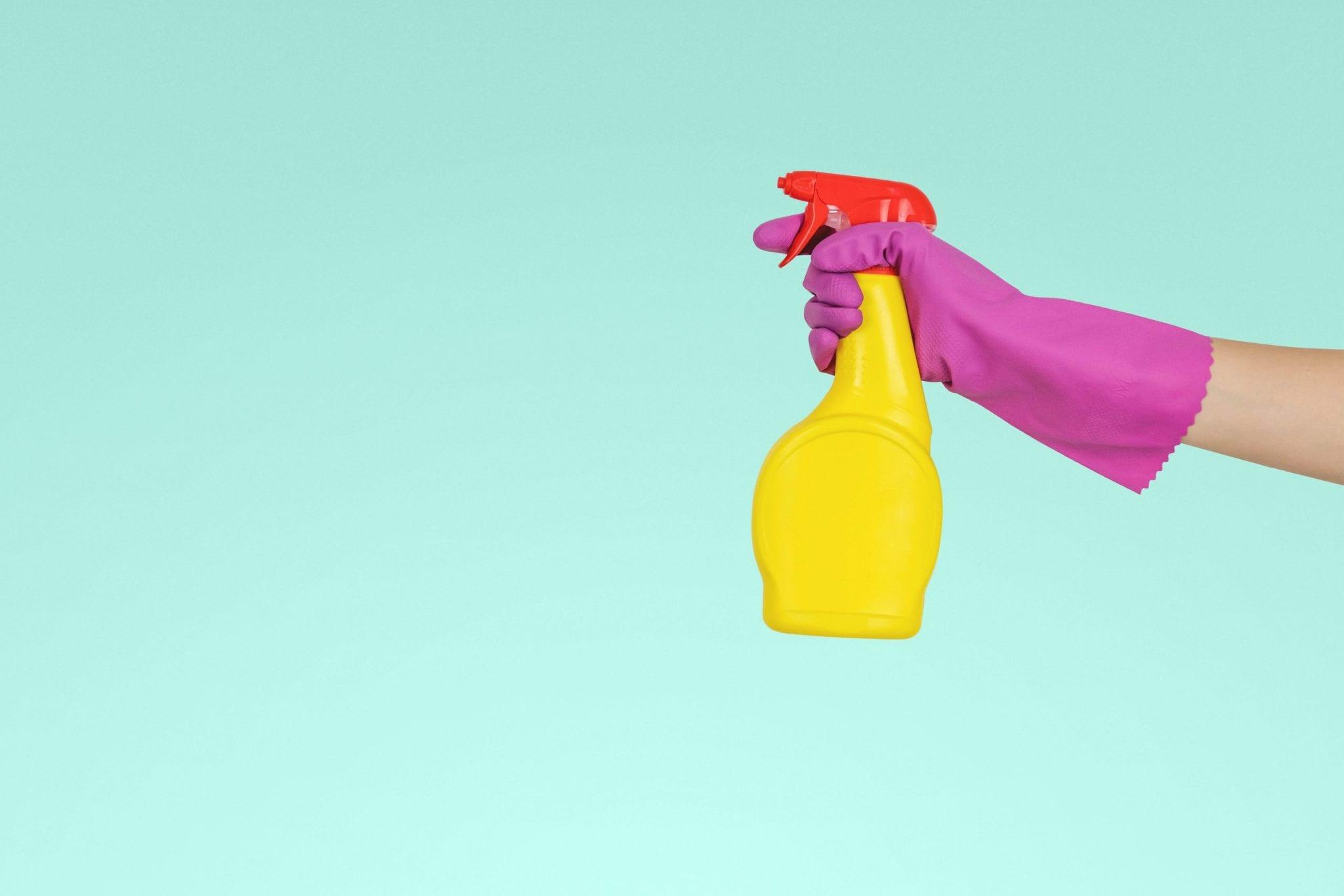 Limpeza da casa na quarentena